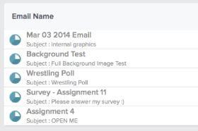 Compare past email campaigns